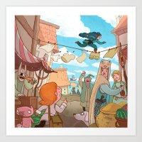 The Little Scribe: Thief… Art Print