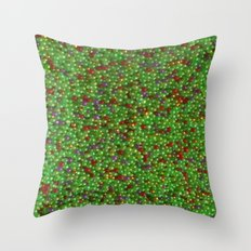 Goji and Gold Throw Pillow