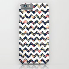 Vintage Chic Floral Romantic Roses Chevron Pattern iPhone 6 Slim Case