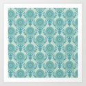 Paper Doily (BLUE) Art Print