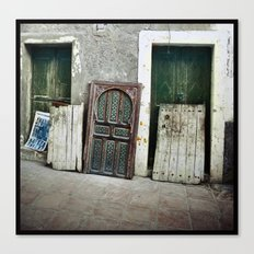 Homeless Windows Canvas Print