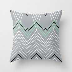 Mint Grey Chevy Throw Pillow