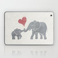 Elephant Hugs Laptop & iPad Skin