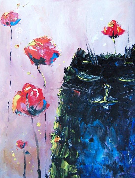 dreaming cat  Art Print