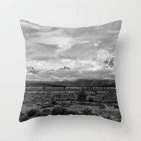 Tetons, Wyoming Throw Pillow