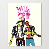 Kids of Love and Hate Canvas Print