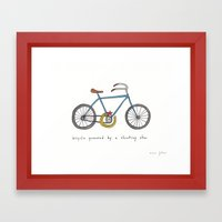 bicycle powered by a shooting star Framed Art Print