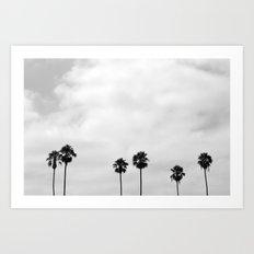 L.A. Palms Art Print