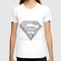 superman T-shirts featuring Superman by Frances Roughton