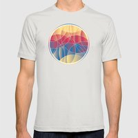 Sunset Curves Mens Fitted Tee Silver SMALL