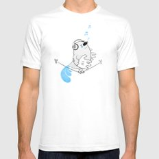 Tweettie White SMALL Mens Fitted Tee