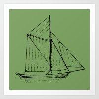 Eka Green Art Print