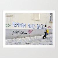 Feminism Fights Back Art Print
