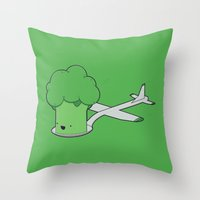 Here Comes The Airplane! Throw Pillow
