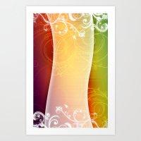 RAINBOW PATTERN Art Print
