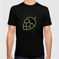 Me So Hoppy Mens Fitted Tee Black SMALL