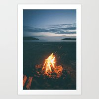 Beach Fire Art Print