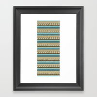 navajo pattern 3 Framed Art Print