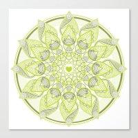 Green Circle Pattern Canvas Print