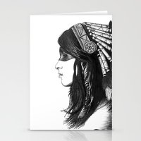 indian Stationery Cards featuring Indian by Peter Fulop
