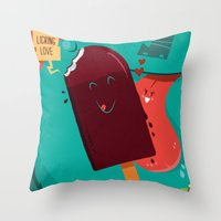 :::Licking Love::: Throw Pillow