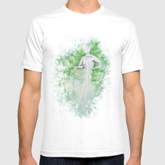 Love as Pain - Anahata in the heart SMALL White Mens Fitted Tee