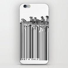 Zebra Barcode iPhone & iPod Skin