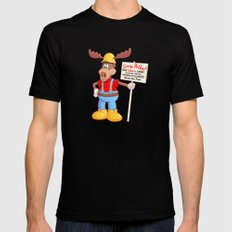 Wally Mens Fitted Tee Black SMALL