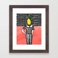 Lemon Head Framed Art Print