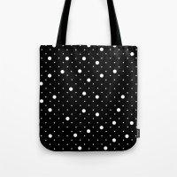 Pin Point Polka Dots Whi… Tote Bag