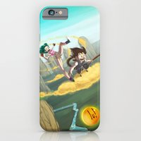 iPhone & iPod Case featuring A ride with Son Goku by animatorlu