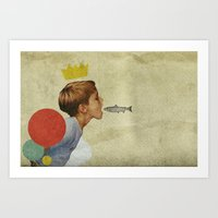 collage Art Prints featuring E.A.T | Collage by Julien Ulvoas