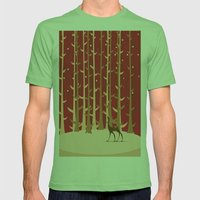 Christmas Reindeer. 1 Mens Fitted Tee Grass SMALL