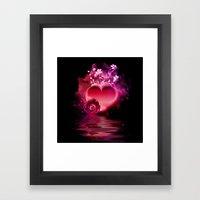 Flooding Heart Framed Art Print