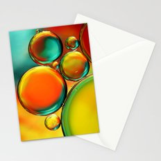 Oil Drop Abstract Stationery Cards