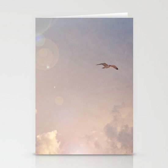 Seagull In the Clouds Stationery Card