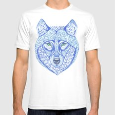 ice wolf White Mens Fitted Tee SMALL