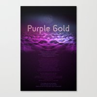Purple Gold Canvas Print
