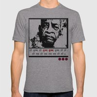 SRILA PRABHUPADA Mens Fitted Tee Athletic Grey SMALL