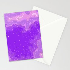 Purple Nebula (8bit) Stationery Cards