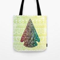 Neon Arrowhead Tote Bag