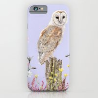 iPhone & iPod Case featuring Meadow Barn Owl by Heather Bechler