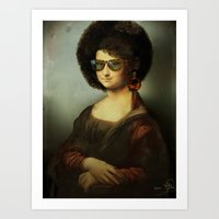 Mona Lisa Boogie Art Print