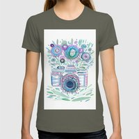 flower camera Womens Fitted Tee Lieutenant SMALL