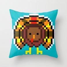 Turkey Bytes Throw Pillow