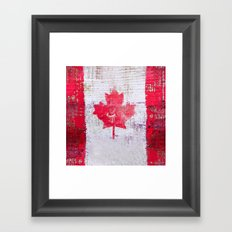 Canadian Flag Tote Bag Framed Art Print