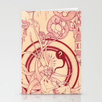 Linear Pink Confusion Stationery Cards