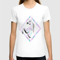 TWIN SHADOW by Vasare Nar and Kris Tate Womens Fitted Tee White SMALL