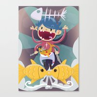 Fish Kid Canvas Print