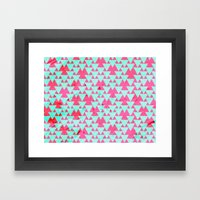 Watercolor Triangle Part… Framed Art Print